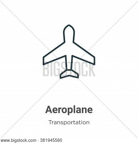Aeroplane icon isolated on white background from transportation collection. Aeroplane icon trendy an
