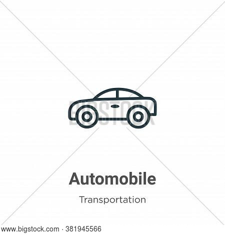 Automobile icon isolated on white background from transportation collection. Automobile icon trendy