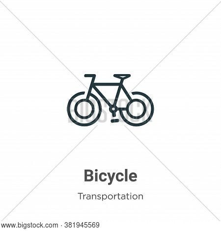 Bicycle icon isolated on white background from transportation collection. Bicycle icon trendy and mo