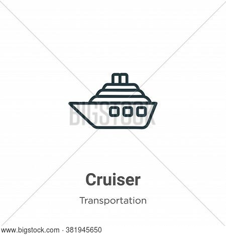 Cruiser icon isolated on white background from transportation collection. Cruiser icon trendy and mo