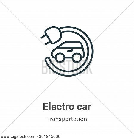 Electro car icon isolated on white background from transportation collection. Electro car icon trend