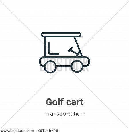 Golf cart icon isolated on white background from transportation collection. Golf cart icon trendy an