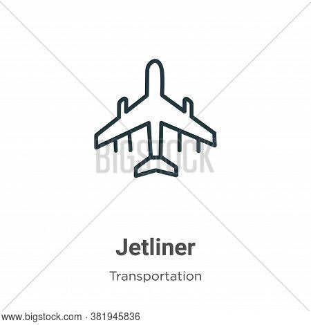 Jetliner icon isolated on white background from transportation collection. Jetliner icon trendy and