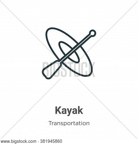 Kayak icon isolated on white background from transportation collection. Kayak icon trendy and modern