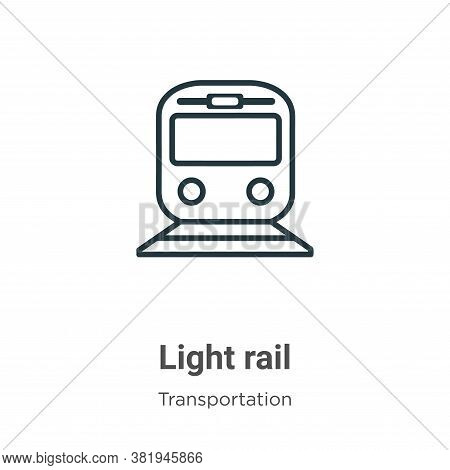 Light rail icon isolated on white background from transportation collection. Light rail icon trendy