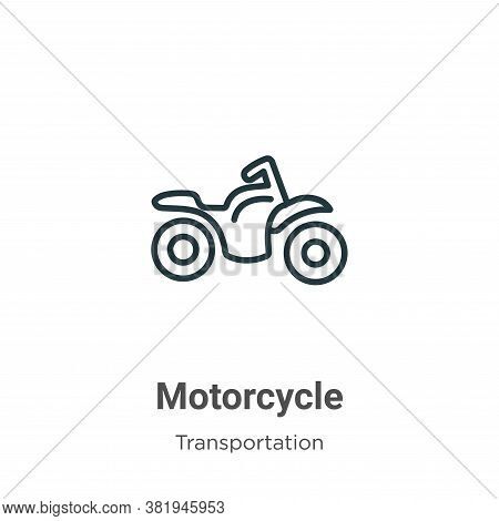 Motorcycle icon isolated on white background from transportation collection. Motorcycle icon trendy