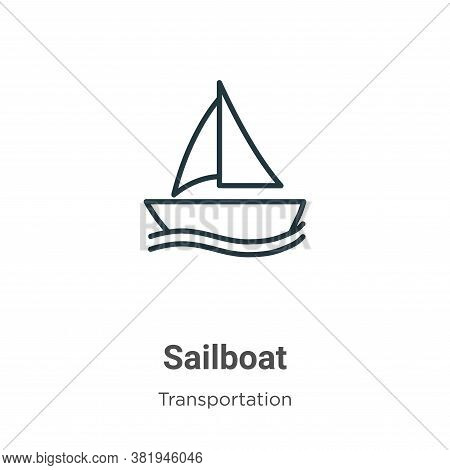 Sailboat icon isolated on white background from transportation collection. Sailboat icon trendy and