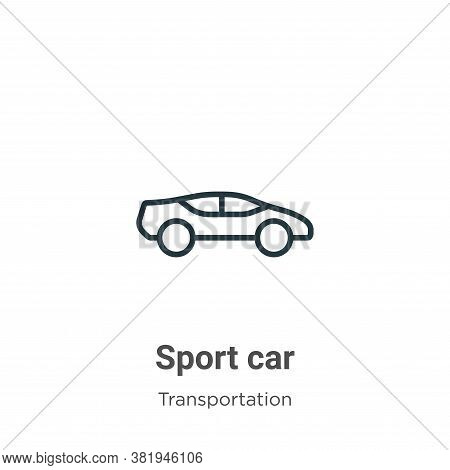 Sport car icon isolated on white background from transportation collection. Sport car icon trendy an