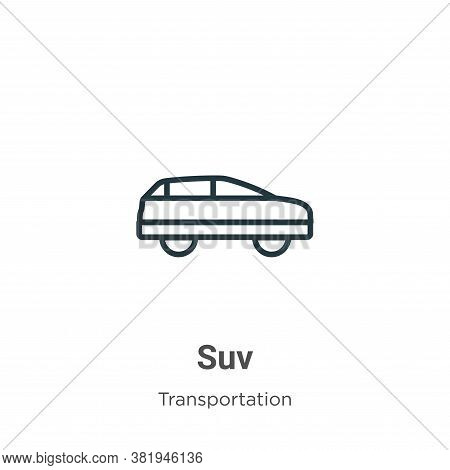 Suv Icon From Transportation Collection Isolated On White Background.
