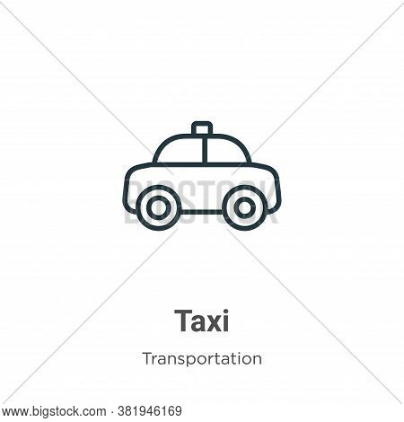 Taxi icon isolated on white background from transportation collection. Taxi icon trendy and modern T