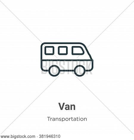 Van icon isolated on white background from transportation collection. Van icon trendy and modern Van