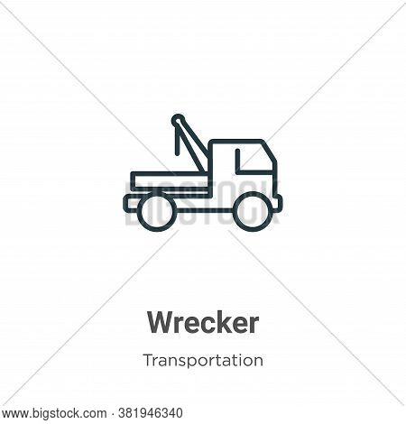 Wrecker Icon From Transportation Collection Isolated On White Background.