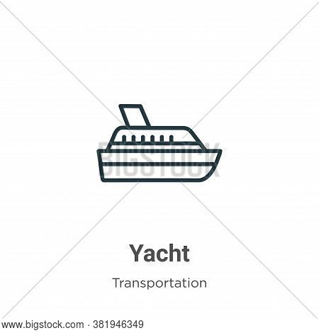 Yacht icon isolated on white background from transportation collection. Yacht icon trendy and modern