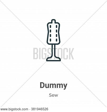 Dummy icon isolated on white background from sew collection. Dummy icon trendy and modern Dummy symb