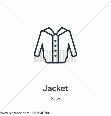 Jacket icon isolated on white background from sew collection. Jacket icon trendy and modern Jacket s