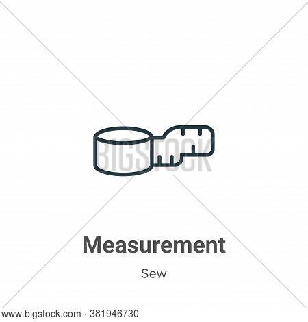 Measurement icon isolated on white background from sew collection. Measurement icon trendy and moder