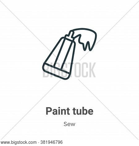 Paint tube icon isolated on white background from sew collection. Paint tube icon trendy and modern