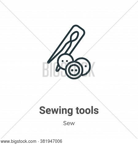 Sewing tools icon isolated on white background from sew collection. Sewing tools icon trendy and mod