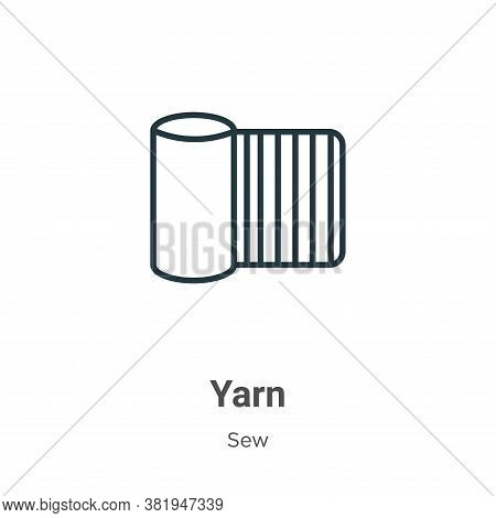 Yarn icon isolated on white background from sew collection. Yarn icon trendy and modern Yarn symbol