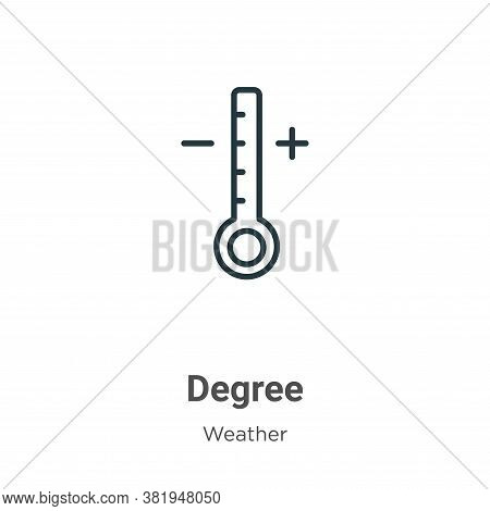 Degree icon isolated on white background from weather collection. Degree icon trendy and modern Degr