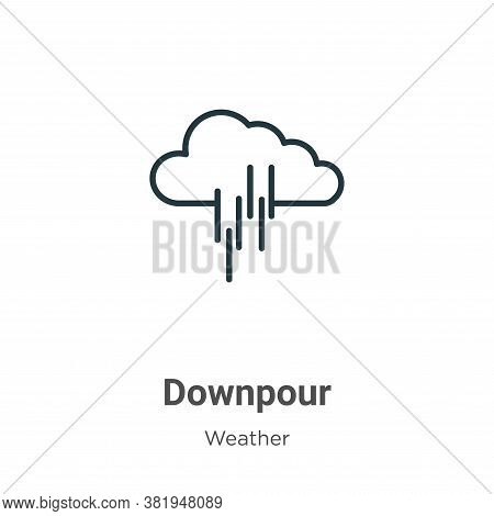 Downpour icon isolated on white background from weather collection. Downpour icon trendy and modern