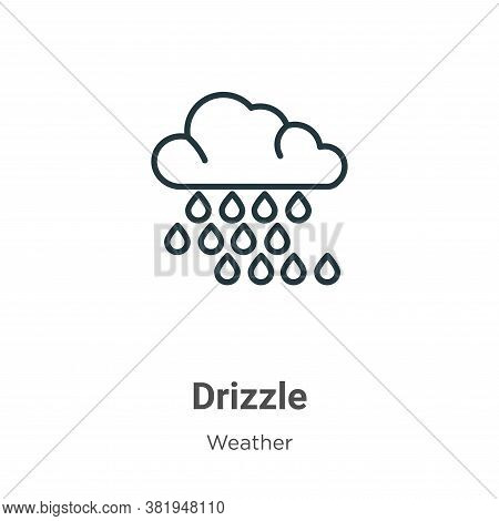 Drizzle icon isolated on white background from weather collection. Drizzle icon trendy and modern Dr