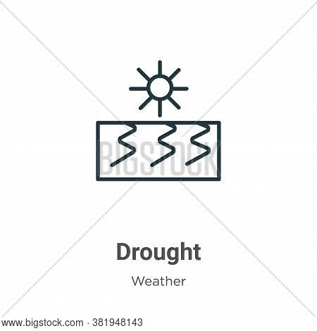 Drought icon isolated on white background from weather collection. Drought icon trendy and modern Dr
