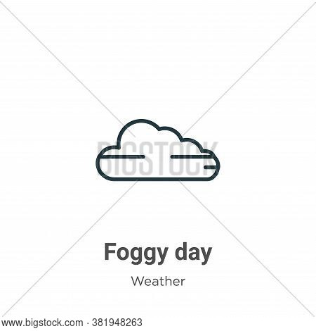 Foggy day icon isolated on white background from weather collection. Foggy day icon trendy and moder
