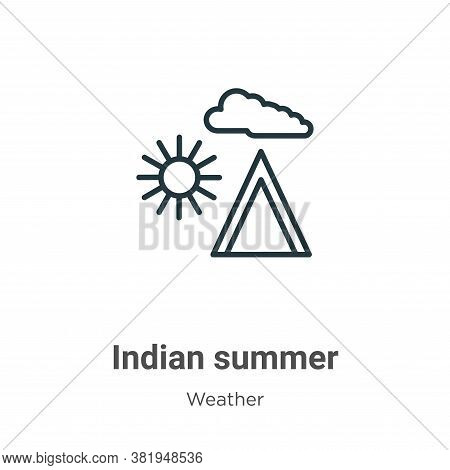 Indian summer icon isolated on white background from weather collection. Indian summer icon trendy a