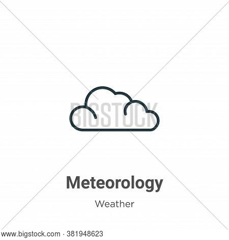 Meteorology icon isolated on white background from weather collection. Meteorology icon trendy and m