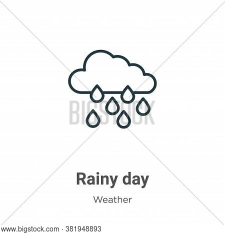 Rainy day icon isolated on white background from weather collection. Rainy day icon trendy and moder