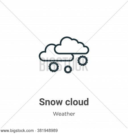 Snow cloud icon isolated on white background from weather collection. Snow cloud icon trendy and mod