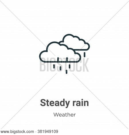Steady rain icon isolated on white background from weather collection. Steady rain icon trendy and m