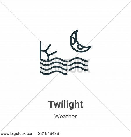 Twilight icon isolated on white background from weather collection. Twilight icon trendy and modern
