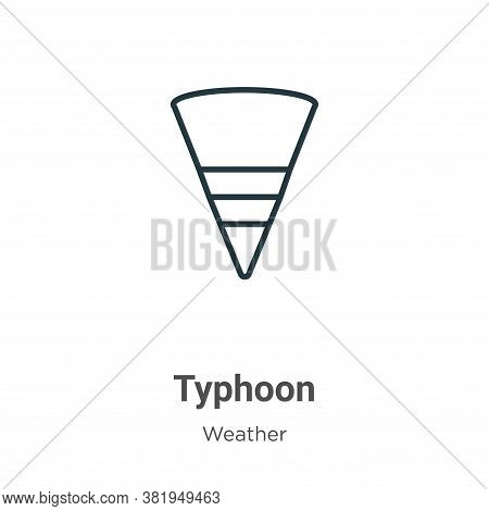 Typhoon icon isolated on white background from weather collection. Typhoon icon trendy and modern Ty