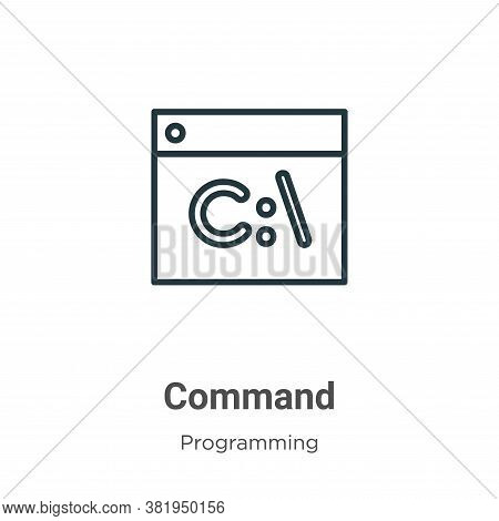 Command icon isolated on white background from programming collection. Command icon trendy and moder