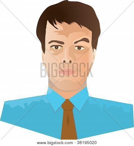 Dark Haired Man Wearing a Tie