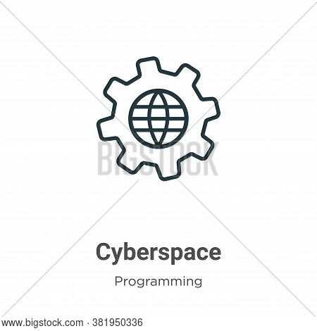 Cyberspace icon isolated on white background from programming collection. Cyberspace icon trendy and