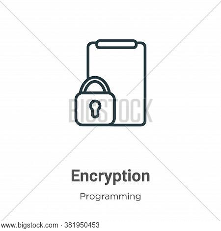 Encryption icon isolated on white background from seo collection. Encryption icon trendy and modern
