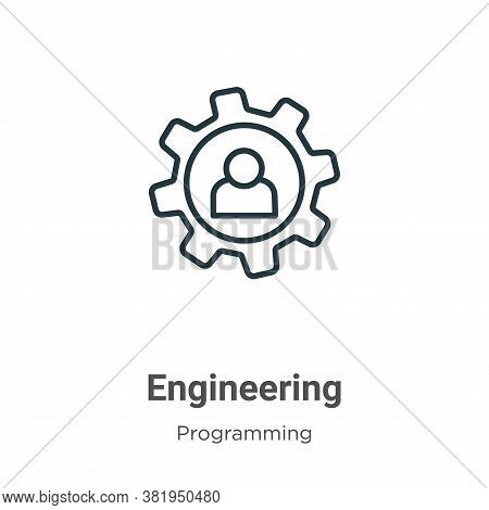 Engineering icon isolated on white background from programming collection. Engineering icon trendy a