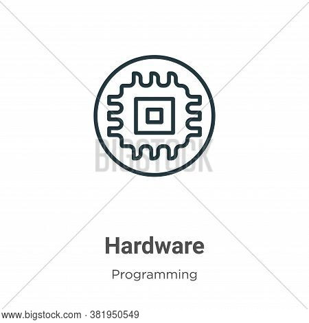 Hardware icon isolated on white background from programming collection. Hardware icon trendy and mod
