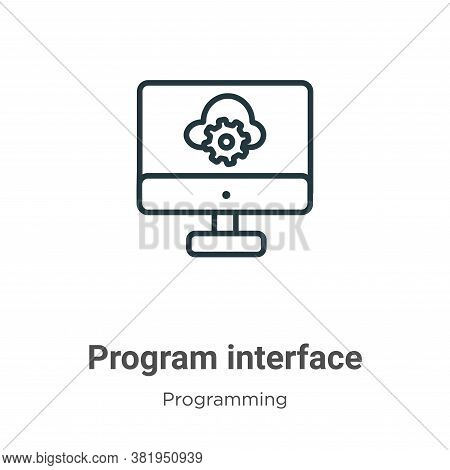 Program interface icon isolated on white background from programming collection. Program interface i