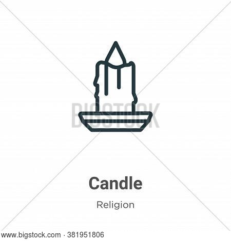 Candle icon isolated on white background from religion collection. Candle icon trendy and modern Can