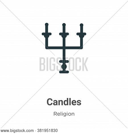 Candles icon isolated on white background from religion collection. Candles icon trendy and modern C