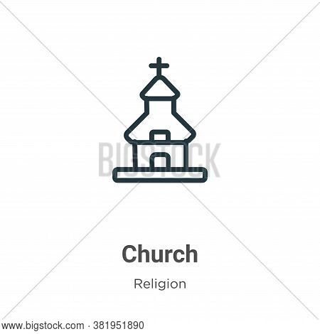 Church icon isolated on white background from religion collection. Church icon trendy and modern Chu