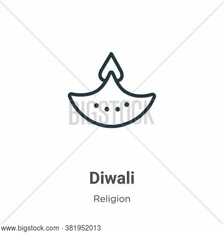 Diwali icon isolated on white background from religion collection. Diwali icon trendy and modern Diw