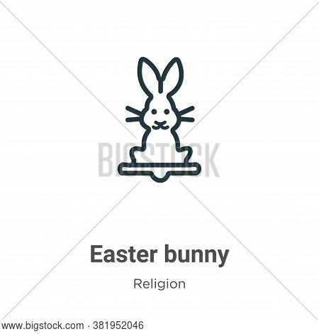 Easter bunny icon isolated on white background from religion collection. Easter bunny icon trendy an