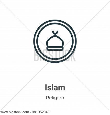 Islam icon isolated on white background from religion collection. Islam icon trendy and modern Islam