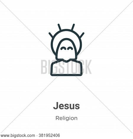 Jesus icon isolated on white background from religion collection. Jesus icon trendy and modern Jesus
