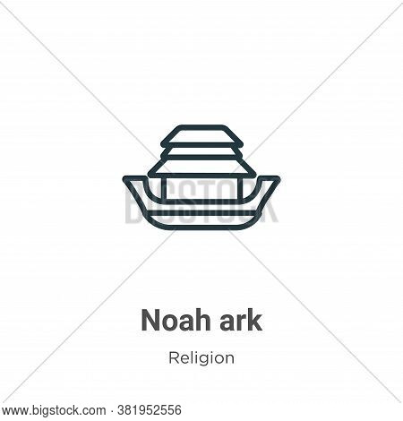 Noah ark icon isolated on white background from religion collection. Noah ark icon trendy and modern